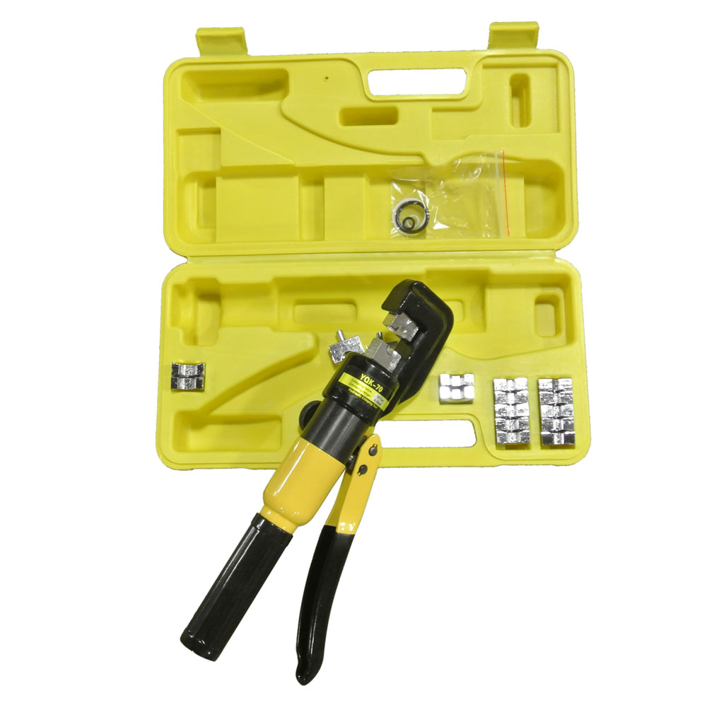 Yqk 70 10 Ton Hydraulic Wire Crimper Crimping Tool Battery